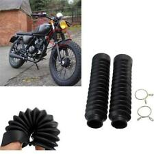 Motorcycle 18cm Long Rubber Fork Cover Front Gaiters Gators Boots For Harley W