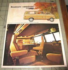 1972-73 BOSTROM VERSAVAN CHEVY VAN CONVERSION Sales Brochure in Good Condition