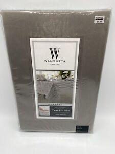 Wamsutta Classic Grey 90 inch Round Tablecloth Bed Bath & Beyond Cotton NEW