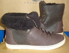 UGG Australia CROFT Choc Brown Bomber Sheepskin Ankle Boot Size US 7 NIB 1009213