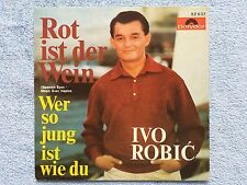 """Vinyl-7""""-Cover # only Cover # Ivo Robic # Rot ist der Wein # 1966 # vg+"""