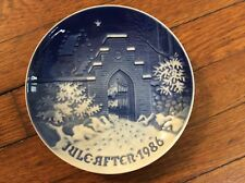 "Bing & Grondahl B& G 1986 Christmas Plate "" Silent Night, Holy Night"""