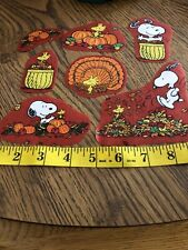 Peanuts Snoopy Halloween  Fall Autumn Fabric Iron On Appliqués