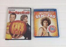 Semi-Pro Blue Ray Dodgeball Vince Vaughn Will Ferrell Bundle Lot Comedy