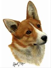 Welsh Corgi Pembroke Dog Robert May Art Greeting Card Set of 6