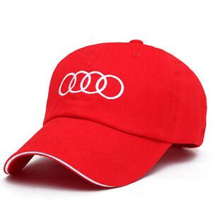 NEW  Cap Baseball Stylish Hat Audi Car Adults Golf Embroidery Black Red Snapback