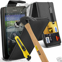 Top Flip Quality Leather Phone Case Cover✔Glass Screen Protector for Huawei