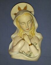 "Lefton China Hand Painted Religious Madonna Bust 6"" Beautiful Figurine"