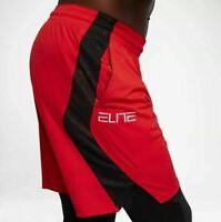 Nike Elite Basketball Shorts Red Black AJ4213-657 Men's NEW