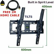 Plasma LCD TV TILT Wall Bracket For 37 40 42 46 50 55 60 70 FREE 2M HDMI CABLE