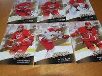 2017-18 Upper Deck MVP Team Set-Carolina Hurricanes-6 cards- Base