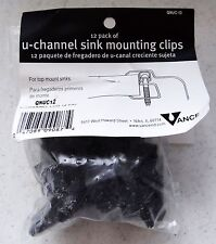 NEW Vance U-Channel Sink Mounting Clips, 12-Pack, Top-Mount Sinks, QNUC-12