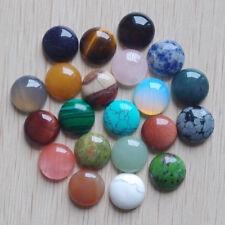 16mm Natural Gemstone Cabochons | Mixed Lot | 30pcs