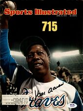 Hank Aaron Signed 1974 Sports Illustrated Cover Autographed Braves PSA/DNA