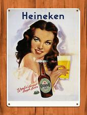 "TIN SIGN ""Heineken girl""  beer bar wall decor Pinup IPA Me Too Sexy Poster Sexy"