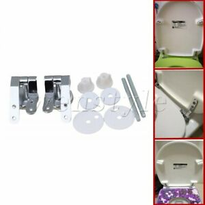 Toilet Seat Hinge Mounting Set Replacement Fix Fitting for Wooden MDF seat