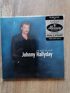 """CD NEUF   JOHNNY HALLYDAY   """" CE QUE JE SAIS """""""