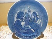 """B & G Copenhagen Porcelain """"Christmas At Home"""" Plate 1971 Made In Denmark"""