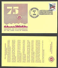 DATED 1992 COVER DENVER CO LIONS INTL 75TH ANNIV W/DATA CARD