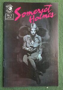 Somerset Holmes #5 Eclipse Comics Bronze Age Bruce Jones vg-