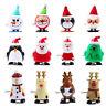 12 x Christmas Wind Up Toys Santa Clockwork Xmas Party Bag Stocking Fillers Kids