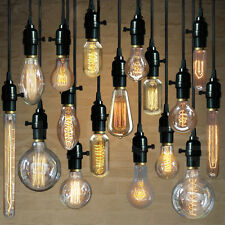 Industrial Pendant Lamp E26/E27 Edison Bulb Socket Hanging Pendant  Light Holder