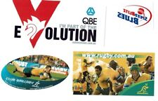 7X STICKERS: CRICKET BLUES, AFL SWANS,WALLABYS,INDY CARS & VB