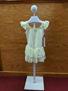 Body Wrappers Toddler Ballet Dance Dress Yellow Chiffon Floral Appliques