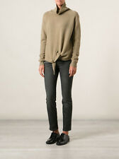 $483 NWT Vanessa Bruno Slim Leg Cropped Jeans Gray Stretch Cotton SZ 28/6