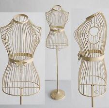 mannequin du Couturier DE VITRINE BUSTE Métal Support vêtements 150 x 34