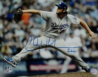 Clayton Kershaw Hand Signed Autographed 11x14 Photo Pitching LA Dodgers OA Whte