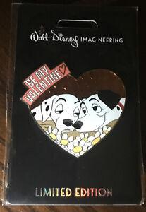 Disney WDI 101 Dalmatians Be My Valentine Perdita & Pongo Pin LE 250