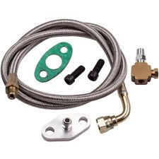 "Turbo Oil Feed Line Kit T3 T4 T60 T61 T70 1/8 PNT 90 Degree 41"""