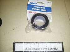 """NOS Tyco AMP Waterproof Cold Shrink Fusion Tape 605262-1 Black Rubber 1"""" x 10'"""