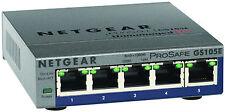 *NEW* NETGEAR GS105E  PROSAFE PLUS 5 Port Gigabit Switch GS105E-200NAS VERSION 2