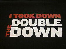 KFC 'TAKE THE DOUBLE DOWN' t shirt Black XL vintage Col Sanders weird Christmas