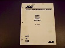 JLG E300A, E300AJ, E300AJP Service & Maintenance Manual 3120772