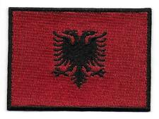 Embroidered Albania Flag Iron on Sew on Patch Badge HIGH QUALITY APPLIQUE
