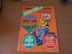rivista a fumetti-CORRIERE dei PICCOLI n.35-1969-+inserto LUCKY LUKE+gioco MOTO