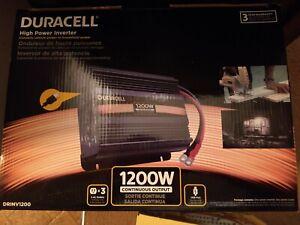 DURACELL 1200 WATT HEAVY DUTY POWER INVERTER NEW w/USB