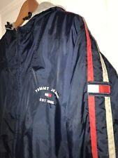 Vintage Tommy Hilfiger Reversible Jacket/Nylon Fleece Spellout Logo FLAG L 2002