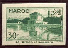 TIMBRE COLONIES FRANCAISES MAROC NEUF NON DENTELE N° 358 ** LA MENARA MARRAKECH