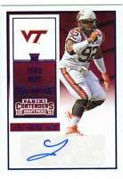 2016 Contenders Draft College Ticket Autograph AUTO Blue Foil #261 Luther Maddy