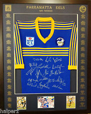 Blazed In Glory - 1983 Parramatta Eels Premiers - NRL Signed and Framed Jersey