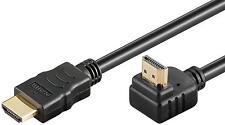 1,5m goobay hdmi™ winkel stecker kabel ethernet 90° gewinkelt vergoldet schwarz