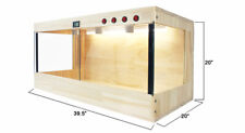 """New listing Wooden Reptiles Turtle Tortoise Enclosure Heating Cage Lizard Snake 39.5x20x20"""""""