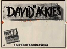 David Ackles LP advert Time Out clipping 1971/2