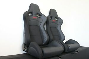 2 x Crank Motorsport GT2, Black fabric with Carbon cloth.  ADR Approved