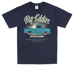 Ford F100 Pickup T Shirt Hot Rod Classic Truck Vintage Navy Blue S-5XL