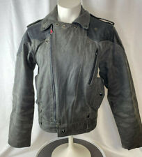 HEIN GERICKE Leather & Cotton Jacket Medium Motorcycle Biker M